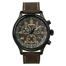 Timex T49905 Mens Black Brown Expedition Field Chronograph Watch RRP £84.99