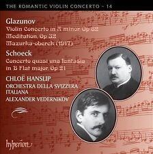The Romantic Violin Concerto, Vol. 14: Alexander Glazunov & Othmar Schoeck...