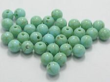 """1000 Blue Imitation Turquoise Gemstone Acrylic Round Beads 8mm(0.31"""") Resin Bead"""