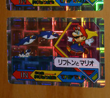 SUPER MARIO WORLD BANPRESTO CARDDASS CARD PRISM CARTE N° 4 NITENDO JAPAN 1992 **