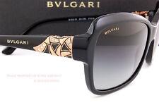 Brand New BVLGARI Sunglasses 8153B 501/8G Black/Grey Gradient Women Size 57