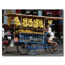 """Bananas & More Bananas For Sale "" ...Man On Bike/Cart/- 'Postcard' (#76)"