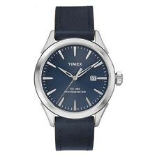 Timex TW2P77400 Mens Elevated Classic Blue Leather Strap Watch RRP £54.99