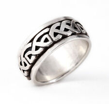 CELTIC KNOT RING Sterling Silver 925 Spinner Ring Infinity Band Unisex Size 9