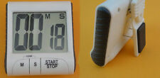 White LCD Digital Clock Kitchen Cooking Timer Count-Down Up  Loud Alarm Magnetic