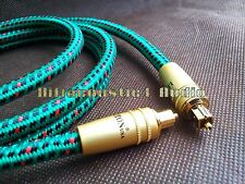 1.5m Digital Toslink Optical Cable USA Audiophile HIFI Audio high performance