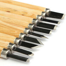 10Pcs Set Wood Carving Woodcarving Kits Hand Woodworkers' Chisel Crafts Tool NEW