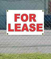 2x3 FOR LEASE Red & White Banner Sign NEW Discount Size & Price FREE SHIP