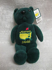2001 Augusta National Masters Tournament Commemorative Beanie Bear Tiger Woods
