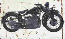 BMW R11 1929 Aged Vintage Photo Print A4 Retro poster