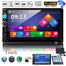 "7"" 2 DIN Bluetooth Touch In Dash Car Stereo Mp3 Player iPod TV Radio USB AUX SD"