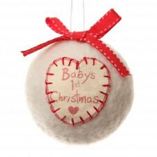 Baby's First Christmas Hanging Christmas Tree Decoration Festive Keepsake 19939