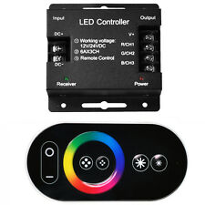 Wireless RF Dimmer Control Touch Remote 3528 5050 RGB LED Strip DC 12V 18A 216W