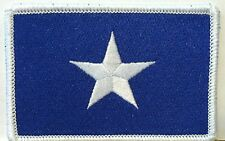 BONNIE BLUE FLAG PATCH TEXAS STAR SOUTHERN  Iron On Patch White Border #05
