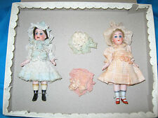 Hertwig Mignonette dolls in box Germany