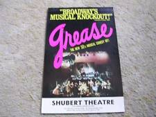 """Broadway's Musical Knockout"" Grease at the Shubert Theatre Chicago Lobby Card"