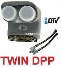 TWIN DPP BELL EXPRESS VU + DISH NETWORK PRO DP TWIN PLUS LNB HDTV HD + SEPARATOR