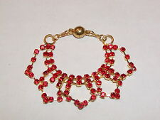 "Red and Gold Rhinestone Necklace for Ellowyne and other 16"" dolls"