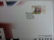 GLOVER STANNING PAIRS OLYMPICS FDC 2/8/2012 GOLD, RARE NOT ADDRESSED,NEW STAMPED