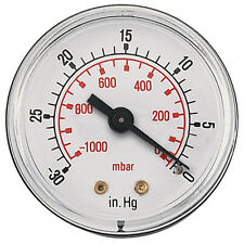 "Dry Vacuum Gauge 0 to -1000 mbar  1/8"" Rear Entry"