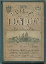 Phillips' Map of London for Visitors and London Guide 1869 HC Book