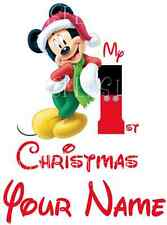 MINNIE MICKEY MOUSE CHRISTMAS XMAS IRON ON HEAT TRANSFER T-SHIRT FABRICS LOT P9