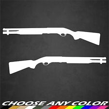 2 Shotgun Decal Sticker Vinyl Hunt Gun Rifle NRA Remington Benelli Weatherby 12