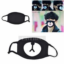 2015 New Fashion Kpop EXO Lucky Bear Black Mouth Mask Chan Yeol