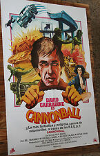Used - Cartel de Cine  CANNONBALL  Vintage Movie Film Poster - Usado