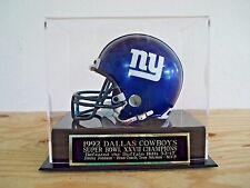 Football Mini Helmet Case With A Dallas Cowboys Super Bowl 27 Engraved Nameplate