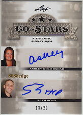 "2013 POP CENTURY AUTO: SETH/ASHLEY GOLD #13/20 AUTOGRAPH CO-STARS""HARDCORE PAWN"""