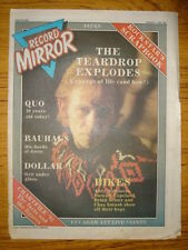 RECORD MIRROR 1982 JAN 2 TEARDROP EXPLODES QUO BAUHAUS