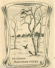EX-LIBRIS de Marguerite GOURY par H. Richard.