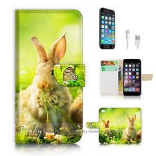 iPhone 7 PLUS (5.5') Flip Wallet Case Cover P2403 Cute Bunny Rabbit