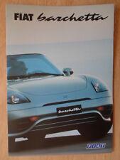 FIAT BARCHETTA ORIG 1997 Regno Unito delle vendite sul mercato opuscolo
