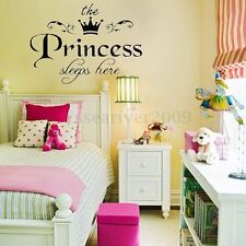 Removable Princess Sleeps Wall Stickers Art Vinyl Decals Baby Girls Room Decor
