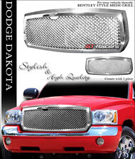 CHROME LUXURY MESH FRONT HOOD BUMPER GRILL GRILLE GUARD 2005-2007 DODGE DAKOTA
