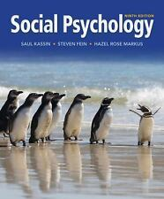 4DAYS FAST DELIVERY- Social Psychology, 9th int'l ed by Saul Kassin, Steven Fein