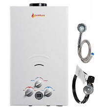 Camplux 10L Portable Outdoor 2.64GPM PropaneTankless Gas Water Heater and Shower