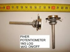 POTENCIOMETRO CARBON. CARBON PIHER POTENTIOMETER 1,3M  1M3 LOG S/I W/O ON/OFF