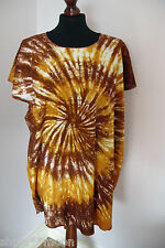 TIE DYE TOP BLOUSE  STYLE FAIRTRADE LARGE BEAUTIFUL FESTIVAL HIPPY BOHO 14-20 s6