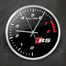 Audi RS Wall Clock Accessories Car Logo Decor Gift
