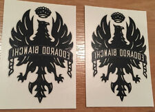 "BIANCHI Tattoos 2""x 3"" set of 2Temporary decal EAGLE + EDOARDO BIANCHI new Black"