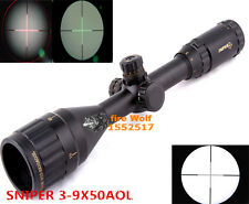 3-9X50 Red Dot Riflescope For Airsoft Gun Outdoor Optics Sniper Target Sight
