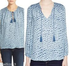 NWT $288 Joie Ayala Silk Bohemian Peasant Blouse Size S