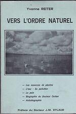 VERS L ORDRE NATUREL   YVONNE REITER  1977