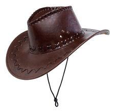 Cowboyhut mit Nähten braun NEU - Karneval Fasching Hut Mütze Kopfbedeckung