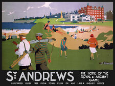 St Andrews Escocia Póster de Viaje de campo de golf metal placa TIN SIGN pared arte 407