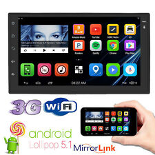 """Quad Core Android 5.1 3G WIFI 7"""" Double 2 DIN Car Radio Stereo No DVD Player GPS"""