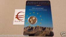 coin card 2 euro 2014 Andorra Andorre андорра 20 Consiglio Europa Consell Europe